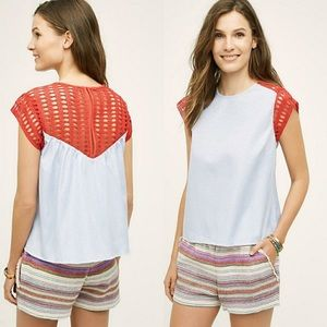 Anthropologie's Maeve Crochet Swing Top Small